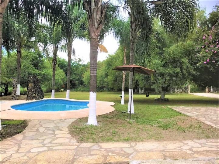 Quinta en Allende con piscina, palapa, asador ymas