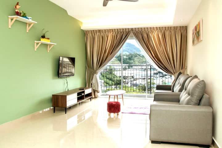 Cozy tea view # kuala terla ( green ) free wifi