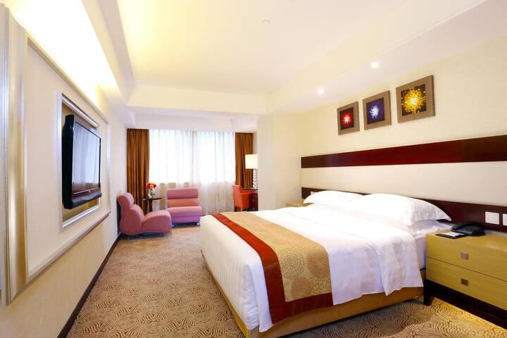 澳门皇家金堡酒店 (casa real hotel)-市区四星精致双床房(2大2小),近新马路近葡京