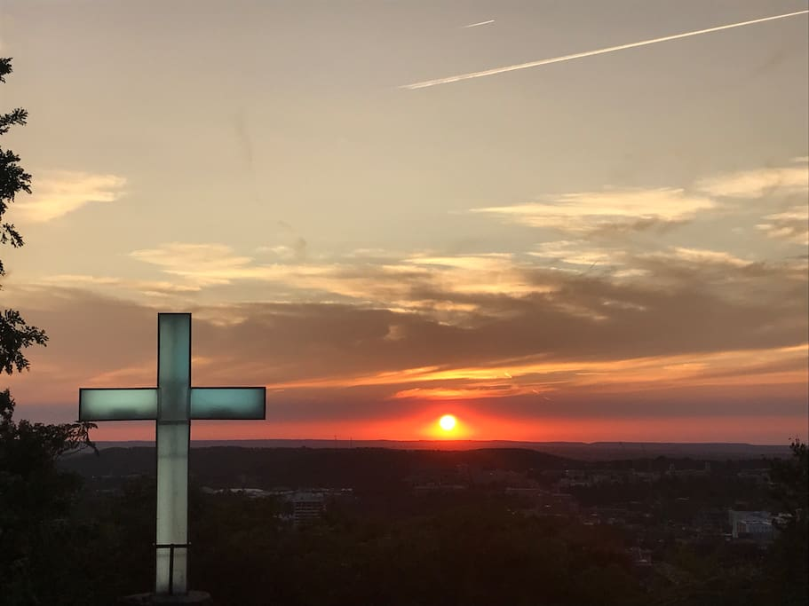 Mt. Sequoyah Cross, 1 minute walking distance from the house
