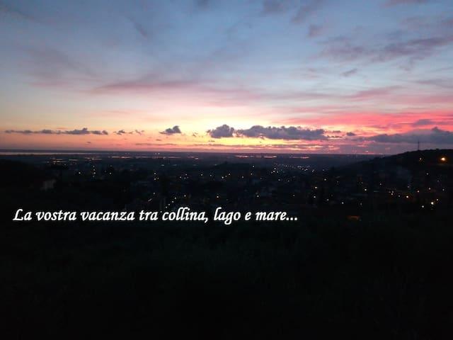Colle La Fosca - Casa panoramica dal lago al mare