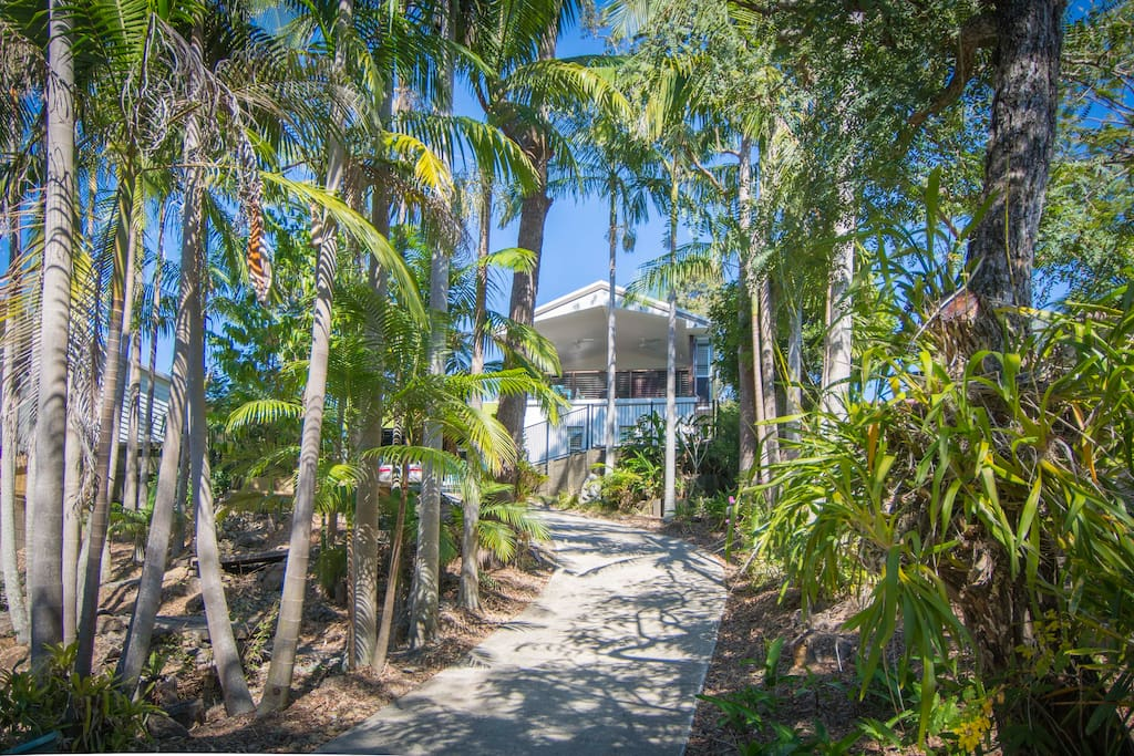 Drive up to your tropical Noosa holiday home