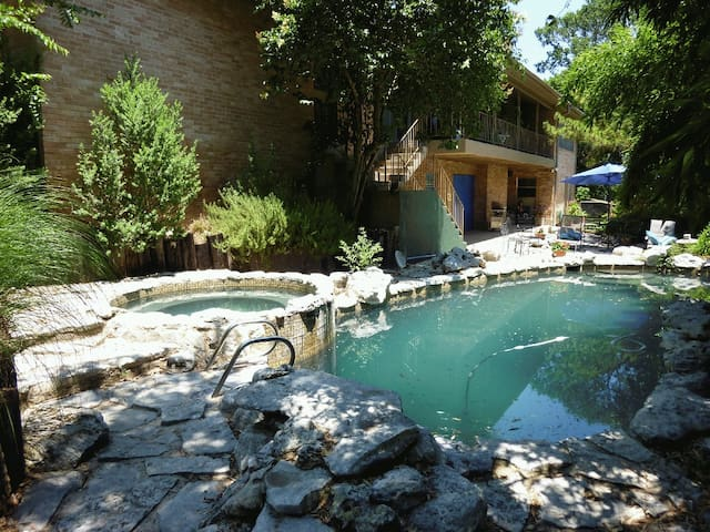 Secluded bamboo oasis in central Austin