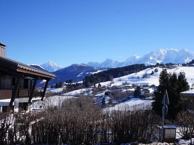 Studio Combloux face au Mont Blanc