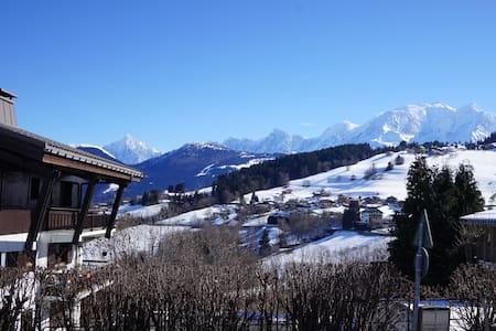 Studio Combloux face au Mont Blanc - Appartement