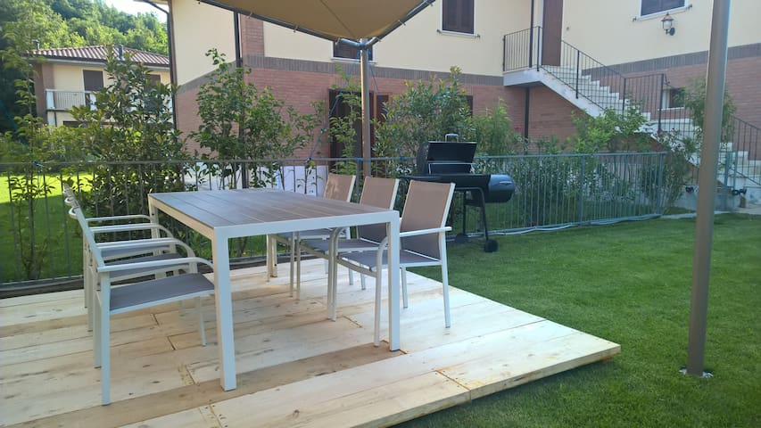 Promozione Trilocale giardino wi-fi Lago Garda - Roe' Volciano - Apartment
