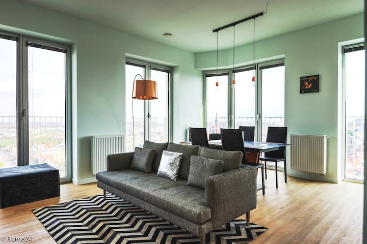 New design apartment with panoramic views