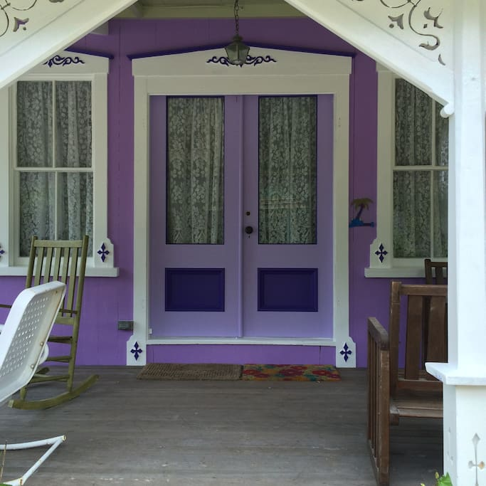 After resting and rocking a bit on the porch, please come in!