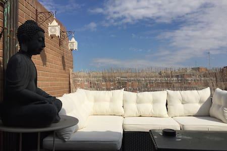 Ático duplex con agradable terraza! Hb de sofacama - Lleida - Wohnung