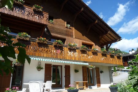 Superb apartment at the bottom of a chalet - Le Grand-Bornand - Almhütte