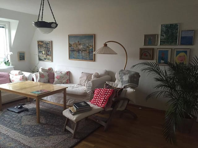 Central apartment with balcony - Varberg - Apartamento