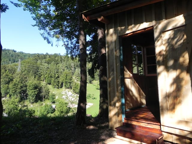 Romantic Wilderness • Forest cabin above the farm