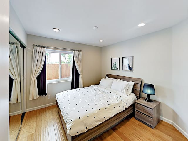 A comfy queen-size bed awaits in the 2nd bedroom