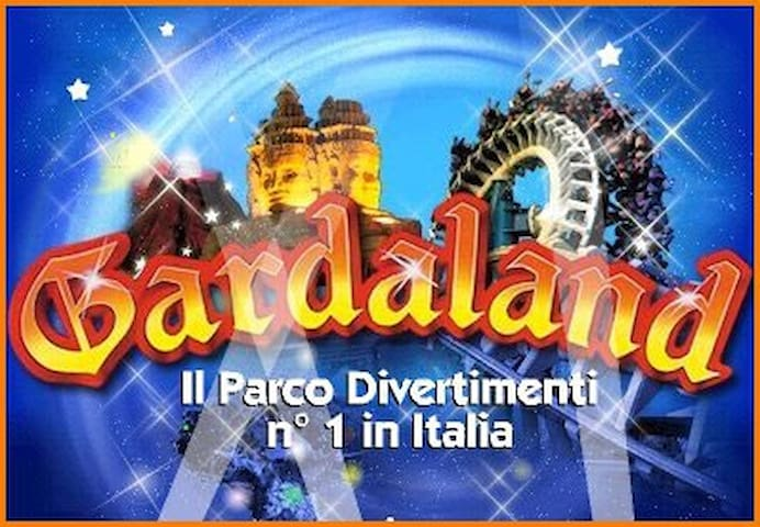gardaland park just 15 km distance from the apartment
