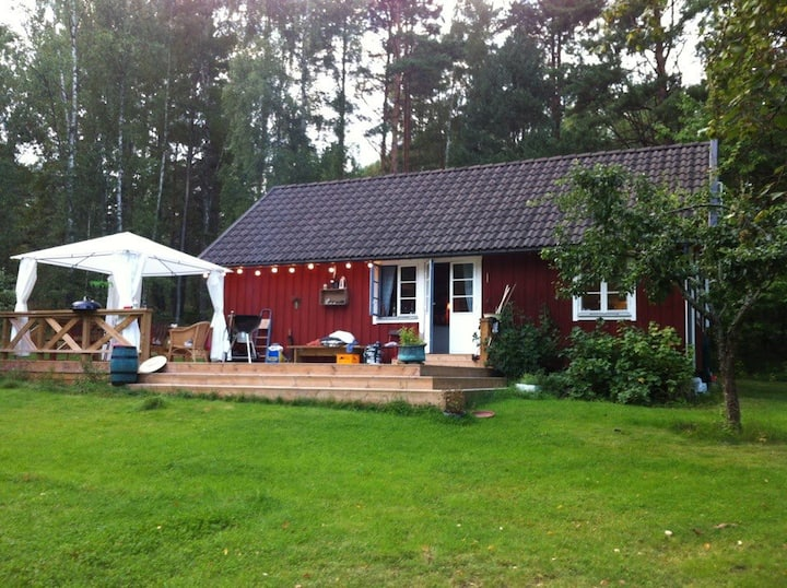 På en liten ö i Stockholms skärgård...