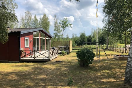 Sjönära stuga 1 mil från Vimmerby
