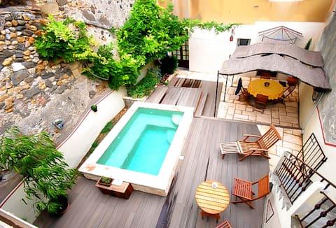 Härligt lugnt hus 3* med egen pool Pezenas