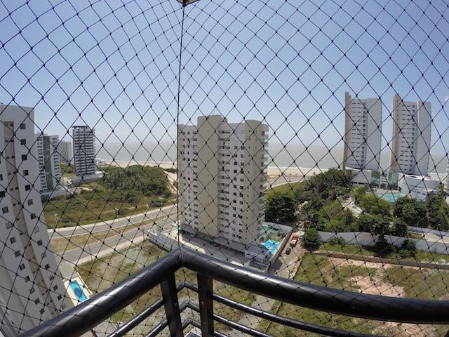 Vista da varanda (com rede de proteção)
