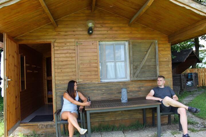 Rustikale Übernachtung auf dem Waldhof, Chalet 1