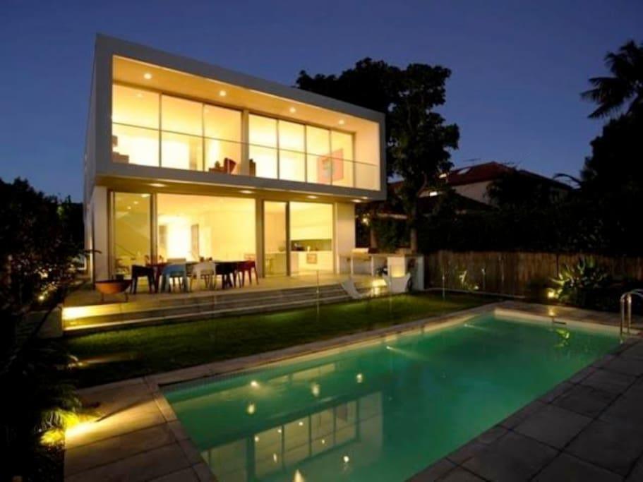 Rear of house - night