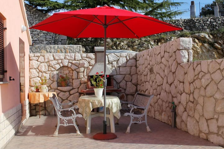 Two bedroom apartment with terrace and sea view Duga Luka (Prtlog) (Labin) (A-2358-b)