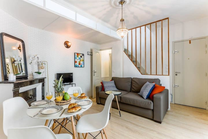 RUE CLER: LOVELY  1BR FLAT STEPS FROM TOUR EIFFEL!