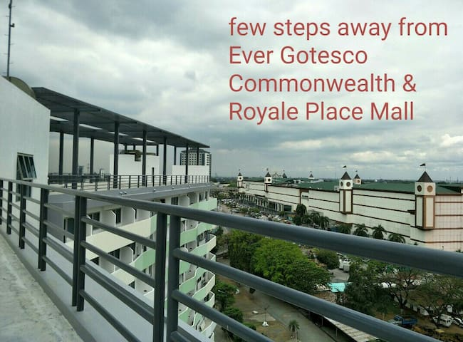 few steps away from Ever Gotesco/Royale Place Mall