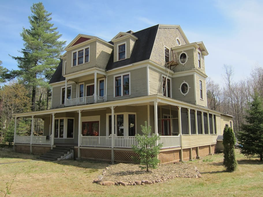 Situated on a two acre lot.