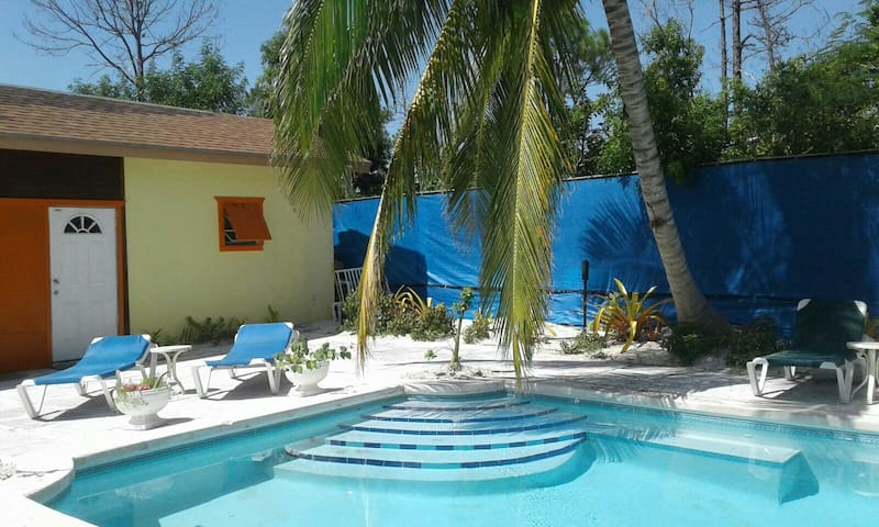 Pool side cottage
