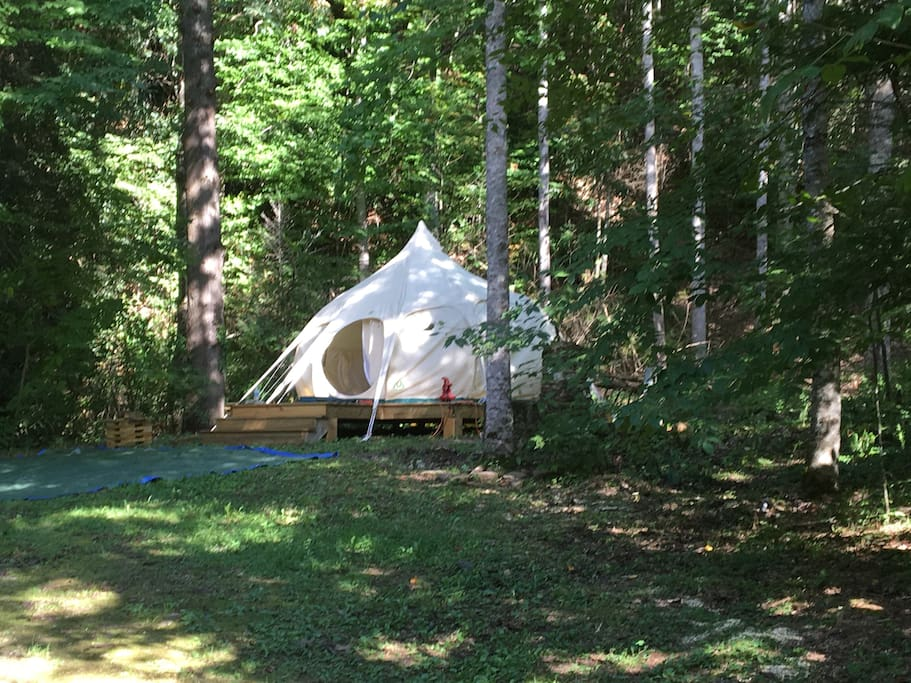 EarthSeed: A 13' Diameter Tent that Looks Like a Yurt