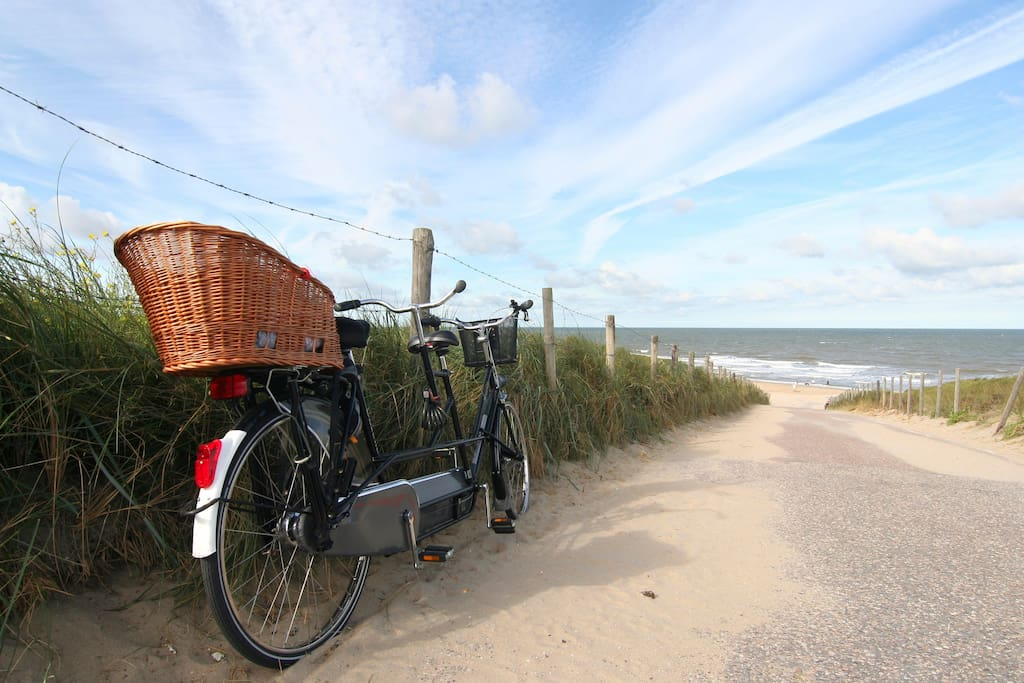 Beaches are within cycling distance
