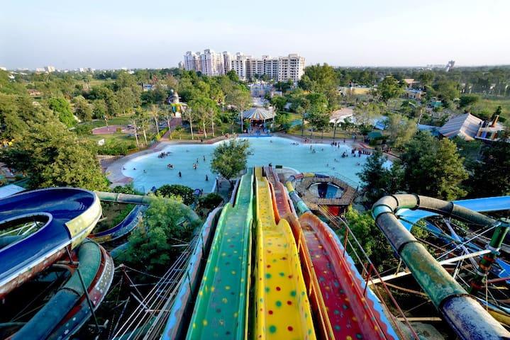 Deluxe room at water park resort in jaipur