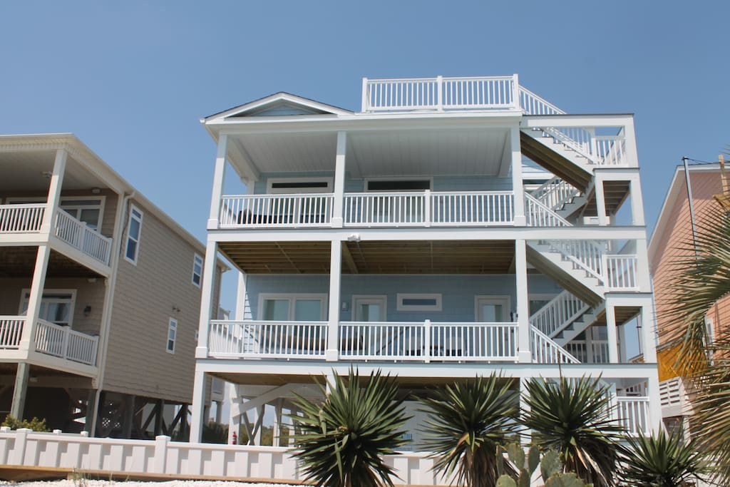 View of the Ocean Side with Great 4th Floor Viewing Deck!