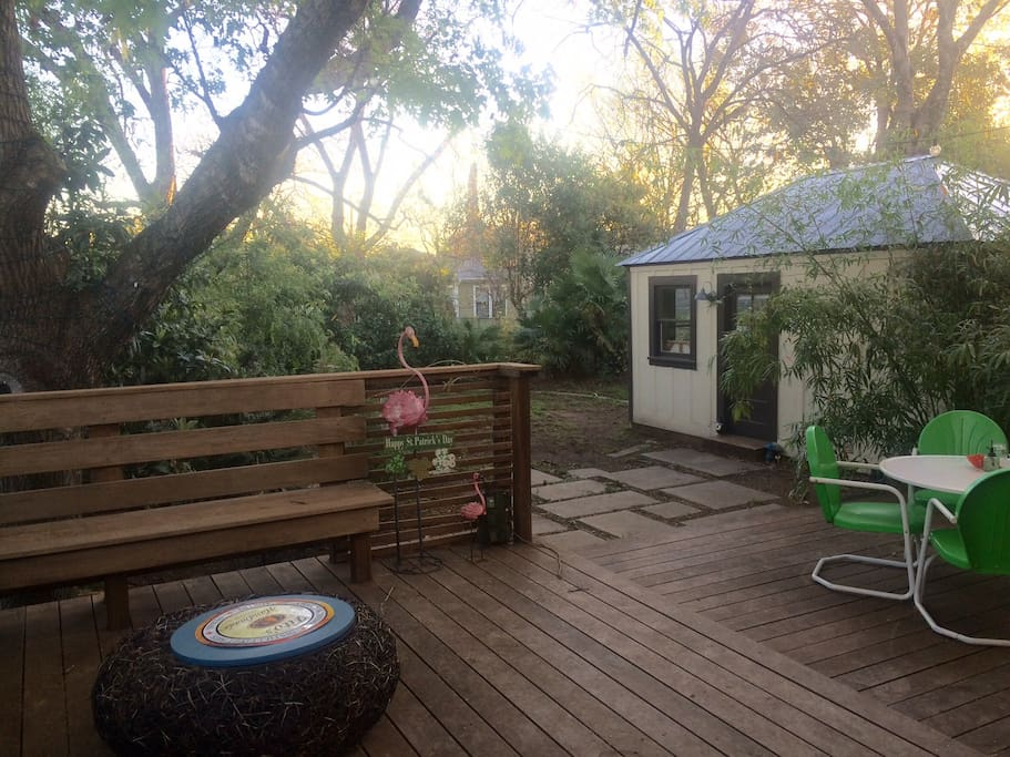 Back Patio, great for relaxing!