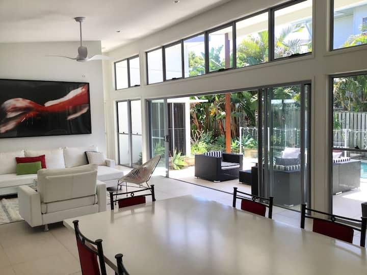 Architect-designed beachside home