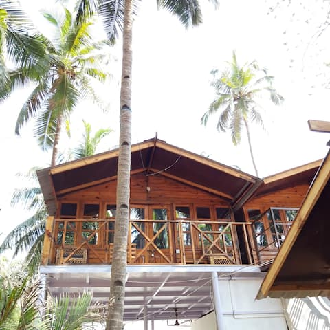 Premium Sea View Cottage on Pristine Agonda Beach