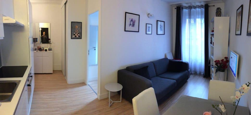 Joli appartement 19e Buttes Chaumont - Ourcq