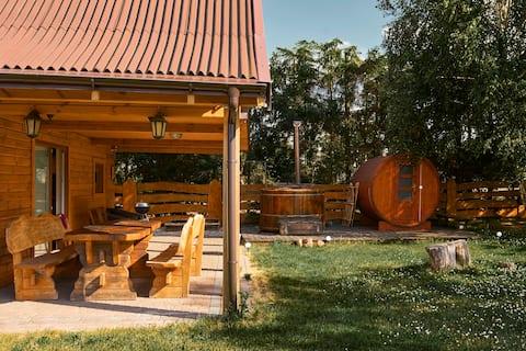 Biker 's House - balia a sauna, dom pri jazere