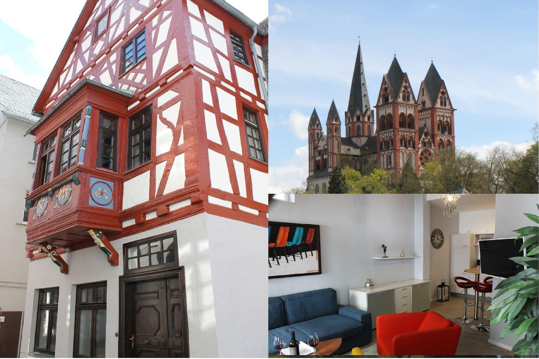 unser Fachwerkhaus mit FeWo ca. 400 Jahre alt inmitten der Altstadt