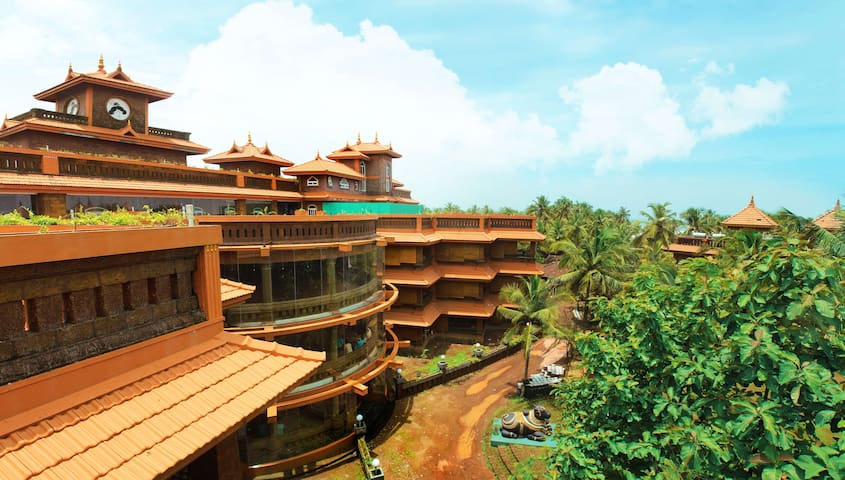 Stay in a unique resort with tantric architecture
