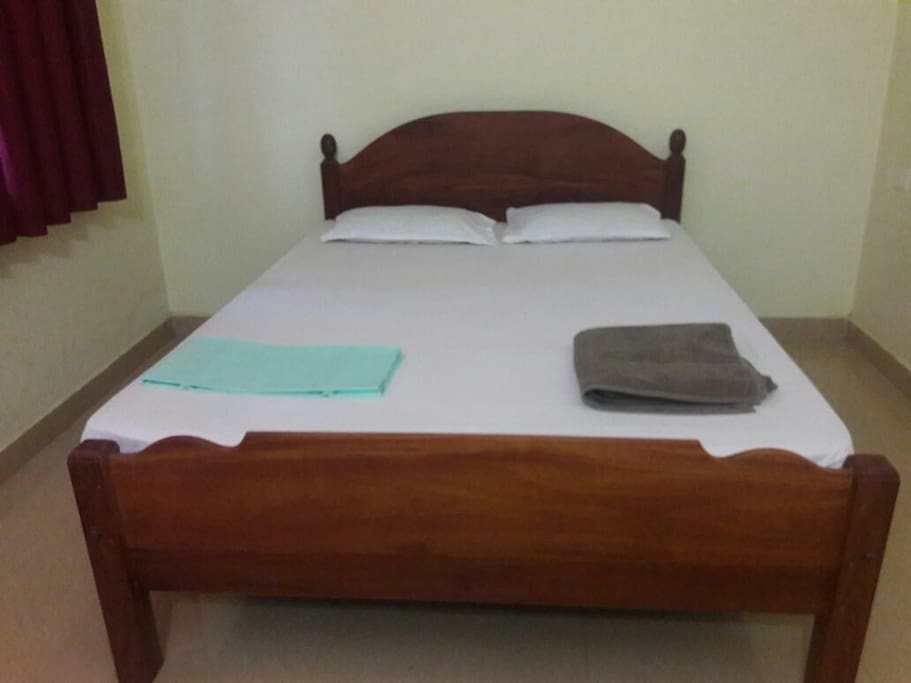 Air-conditioned bedroom with double bed
