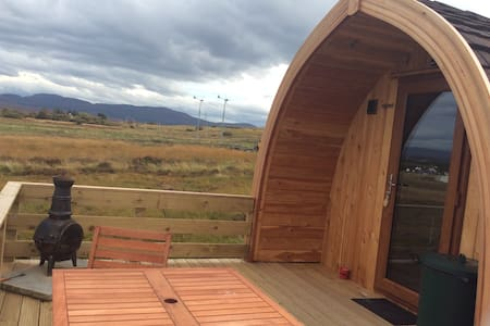 Glamping pods with amazing sea view. Skyepods