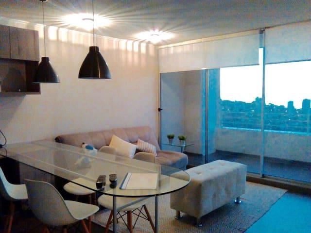 Departamento de 2 habitaciones con vista al mar - Renaca - Apartamento