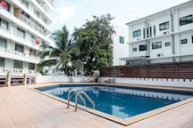 Guest has free access to use the swimming pool, and gym during general hours of operation.