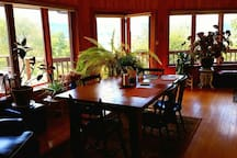 Your private space with dining table, seating area and small food area