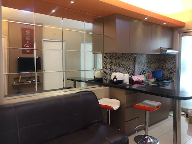 living room ( ruang tamu) /kitchen ( dapur)