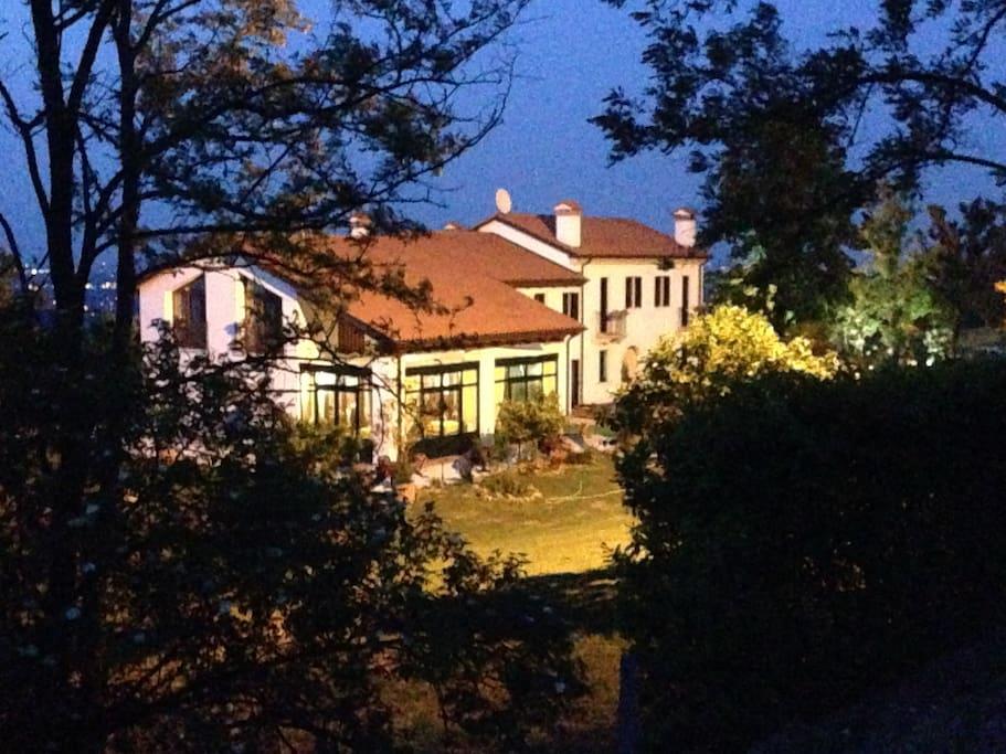 Il country house si trova in un luogo panoramico