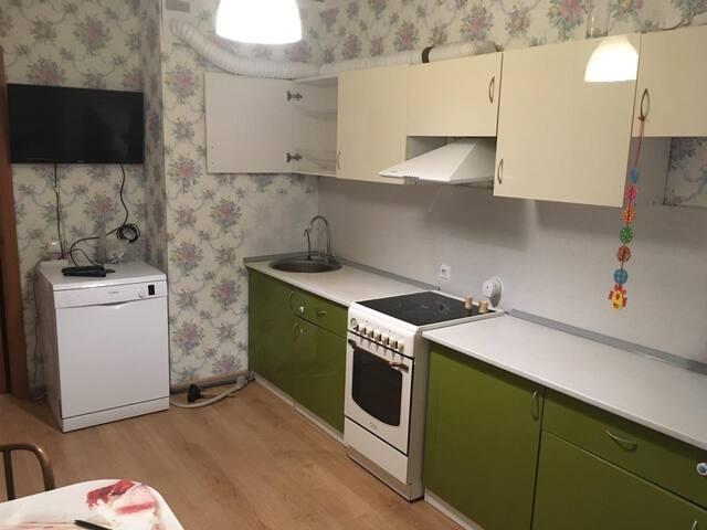 Однокомнатная квартира с большой лоджией