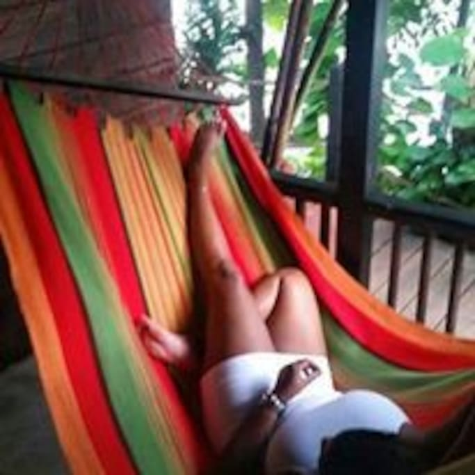 Relax in your cabin hammock