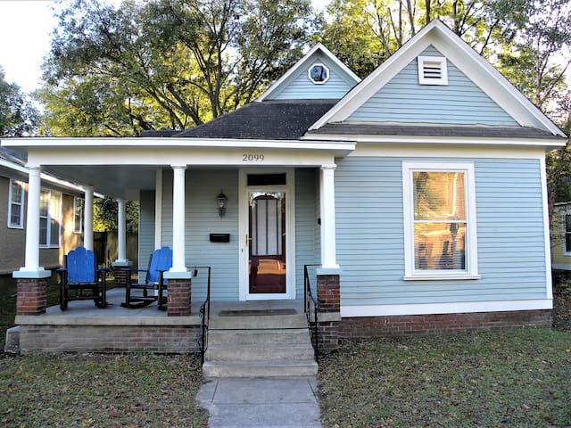 How charming is this 100+ year old renovated house with inviting porch overlooking all that is Cooper Young